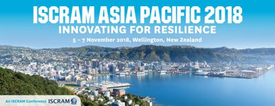 ISCRAM Asia Pacific 2018 in Wellington on 5-7 November