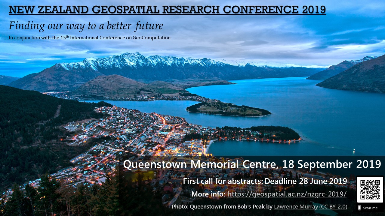 First call: New Zealand Geospatial Research Conference 2019