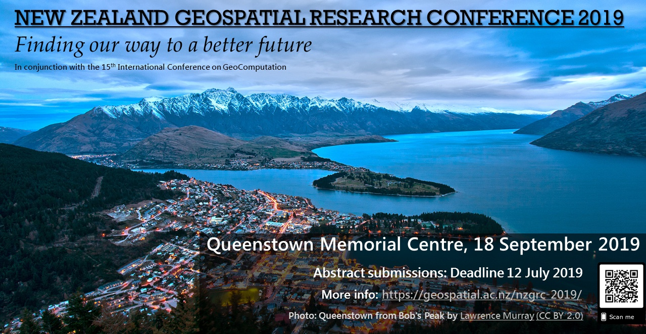 Submissions open: NZ Geospatial Research Conference 2019