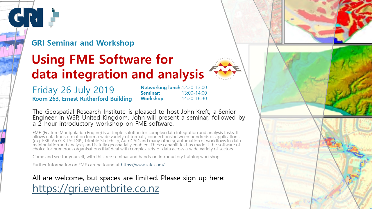 Seminar and workshop 26 July 2019: Using FME Software for data integration and analysis